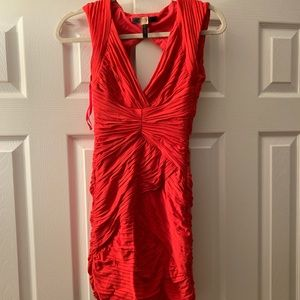 BCBG Red ruched dress. Very flattering! Worn once!